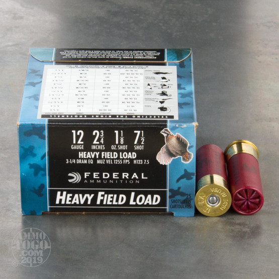 "25rds - 12 Gauge Federal Game Shok 2 3/4"" 1 1/8oz. #7 1/2 Shot Ammo"