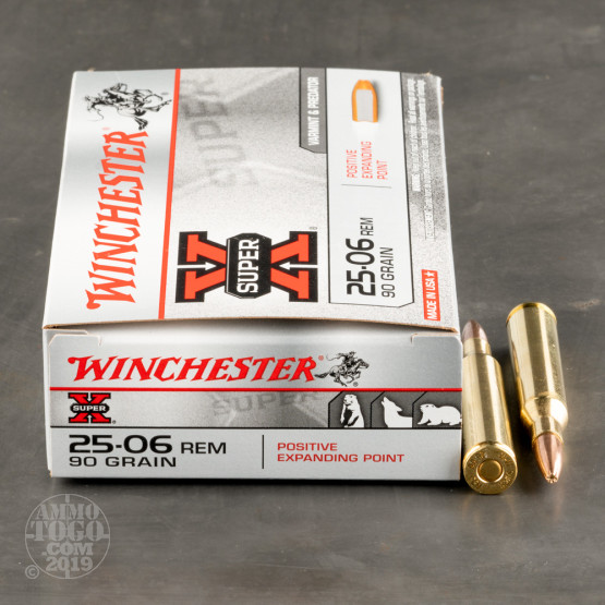 20rds - 25-06 Rem. Winchester 90gr Super-X Positive Expanding Ammo