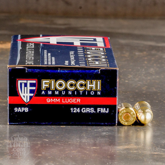 1000rds - 9mm Fiocchi 124gr. FMJ Ammo