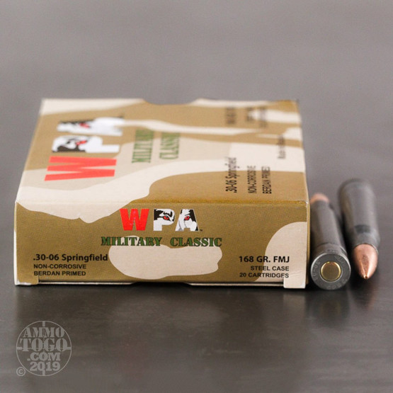 500rds – 30-06 WPA Military Classic 168gr. FMJ Ammo