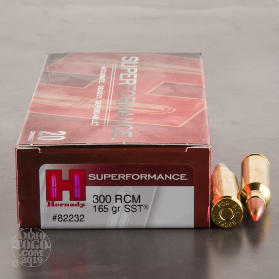 20rds - 300 RCM Hornady Superformance 165gr. SST Ammo