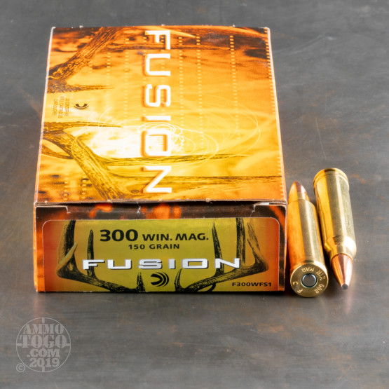 20rds - 300 Win. Mag. Federal Fusion 150gr. SP Ammo