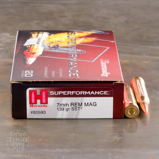 20rds – 7mm Rem Mag Hornady Superformance 139gr. SST Ammo