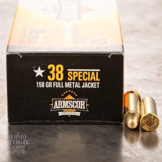 1000rds - 38 Special Armscor 158gr. FMJ Ammo