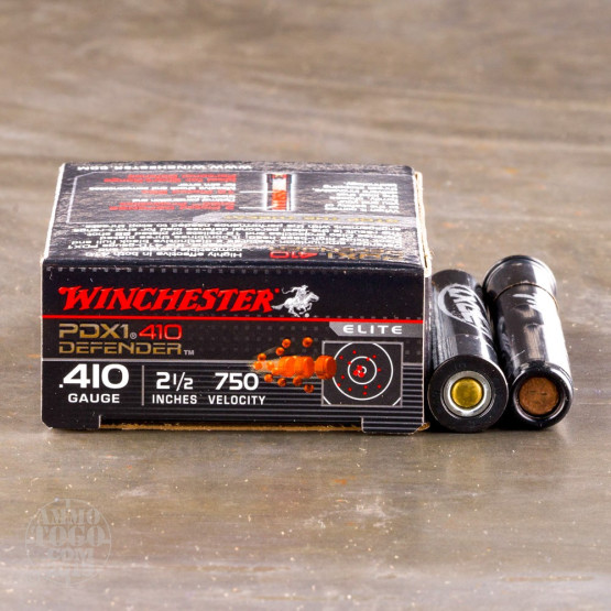 """10rds – 410 Bore Winchester PDX1 Defender 2-1/2"""" 3 Plated Defense Disc & 12 Pellet BB Shot Ammo"""