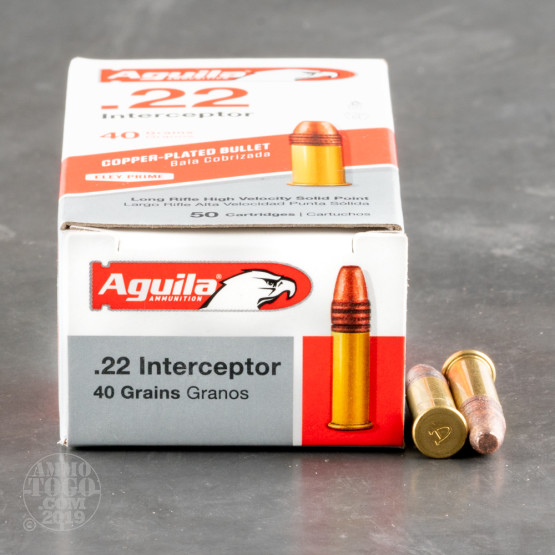 500rds - 22LR Aguila Interceptor 40gr. Solid Point Ammo