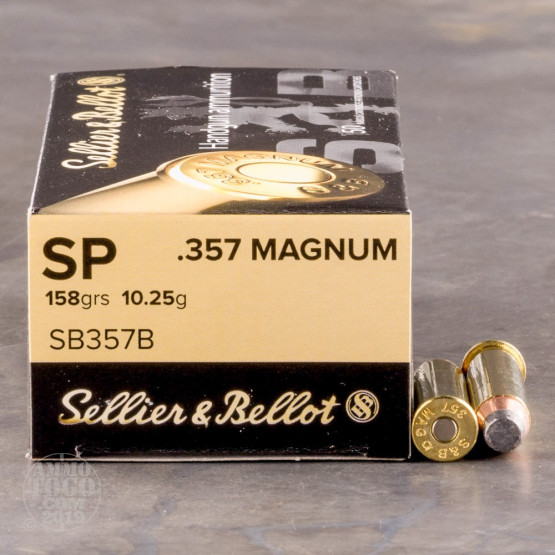 50rds – 357 Magnum Sellier & Bellot 158gr. SP Ammo