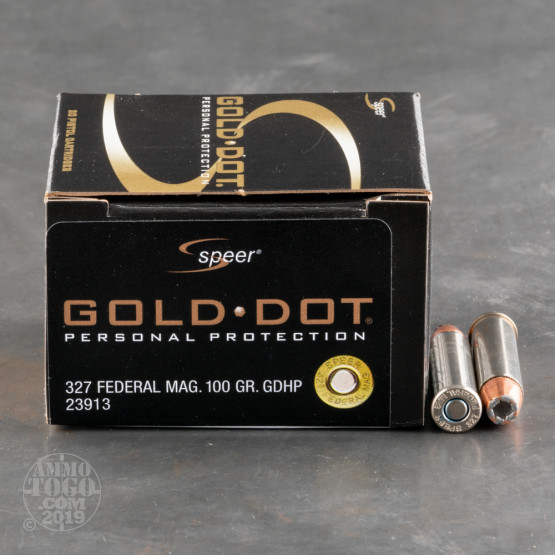 20rds - 327 Federal Magnum Speer 100gr. Gold Dot Hollow Point Ammo