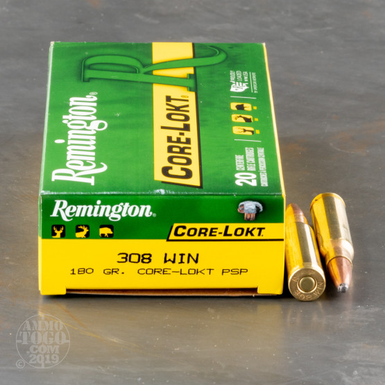 20rds - .308 Remington Express Core-Lokt 180gr. Pointed Soft Point