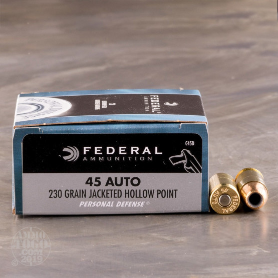500rds – 45 ACP Federal Personal Defense 230gr. JHP Ammo