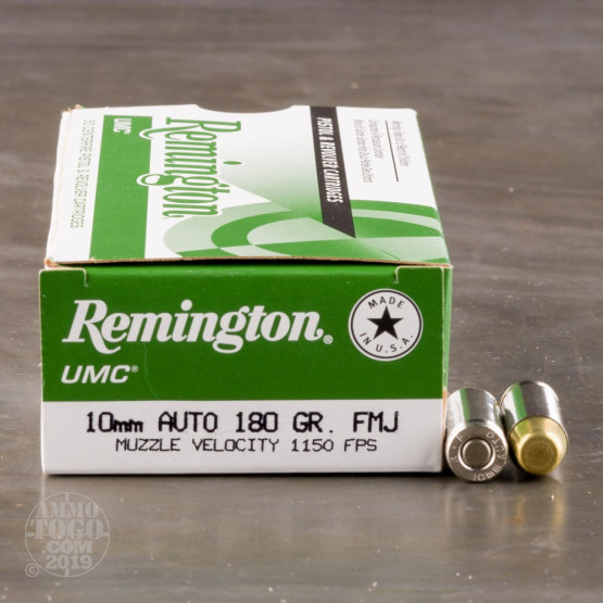 500rds - 10mm Remington UMC 180gr FMJ Ammo
