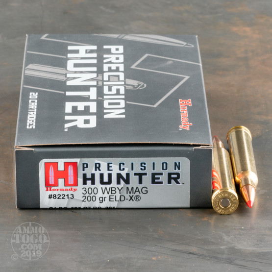 20rds – 300 Weatherby Mag Hornady Precision Hunter 200gr. ELD-X Ammo