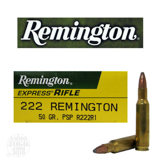 20rds - .222 Remington Express 50gr. Pointed Soft Point Ammo