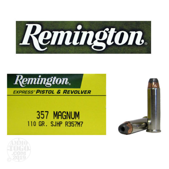 50rds - 357 Mag Remington 110gr. Semi-Jacketed Hollow Point Ammo