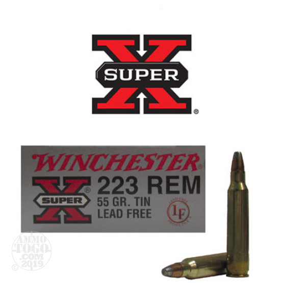 20rds - .223 Winchester Super-X 55gr. Tin LEAD FREE Ammo