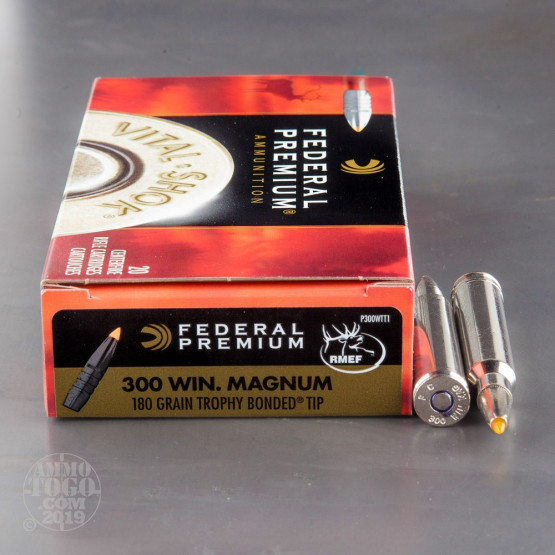 20rds - 300 Win Mag Federal 180gr. Trophy Bonded Tip Ammo