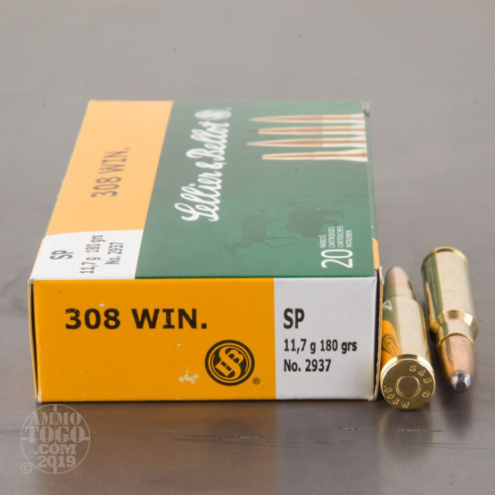 20rds - .308 Sellier & Bellot 180gr. Soft Point Ammo
