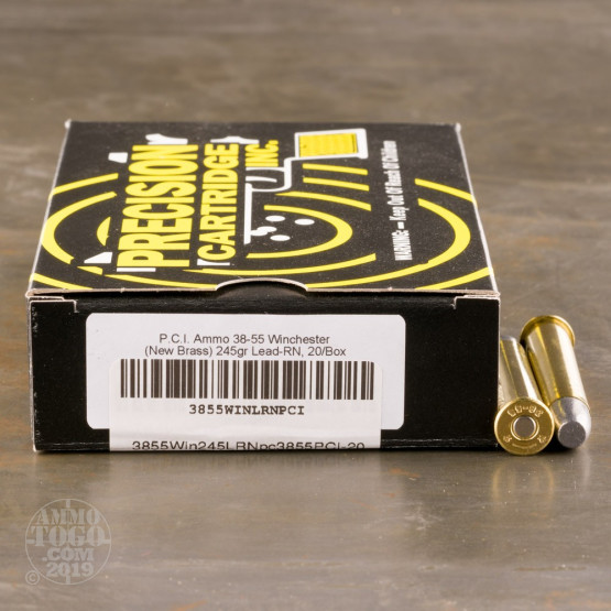 20rds - 38-55 Winchester PCI 245gr. LRN-FP Ammo