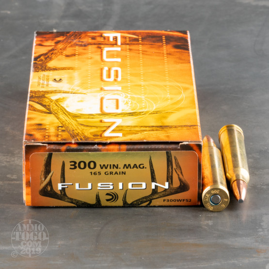 20rds - 300 Win. Mag. Federal Fusion 165gr. SP Ammo