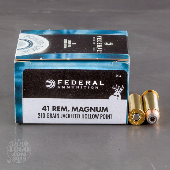 20rds - 41 Remington Magnum Federal 210gr. JHP Ammo