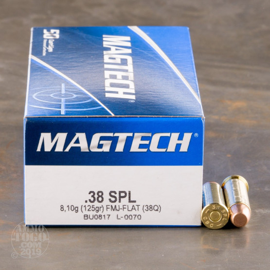 50rds – 38 Special Magtech 125gr. FMJ Flat Ammo