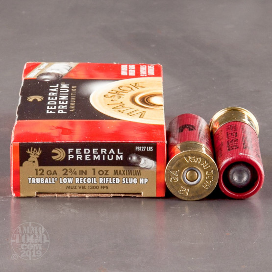 "250rds – 12 Gauge Federal Vital-Shok 2-3/4"" 1oz. TruBall HP Slug Ammo"