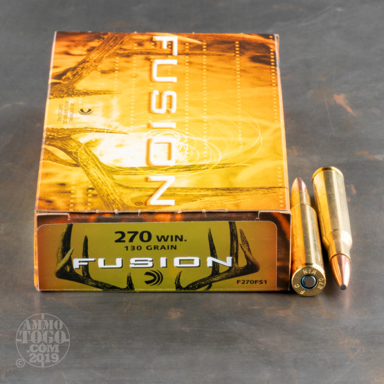 20rds -  270 Federal Fusion 130gr  SP Ammo