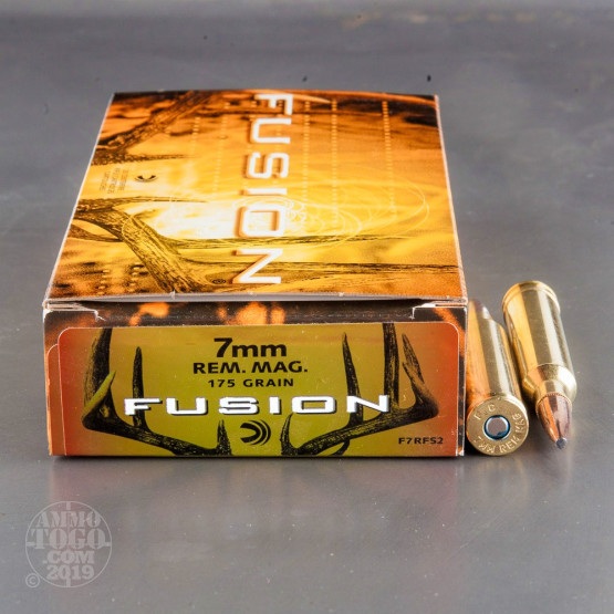 20rds - 7mm Rem Mag Federal Fusion 175gr. SP Ammo