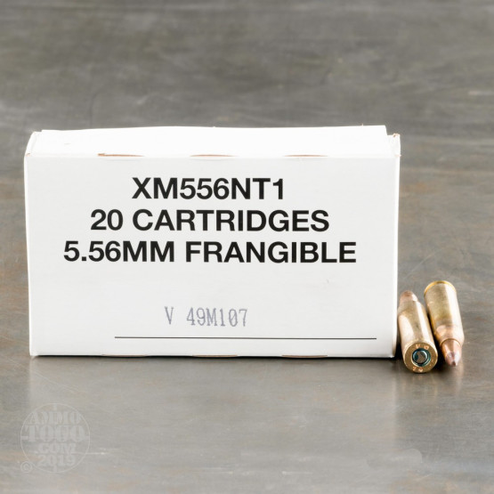 500rds – 5.56x45 Federal Non-Toxic 50gr. Frangible SP Ammo