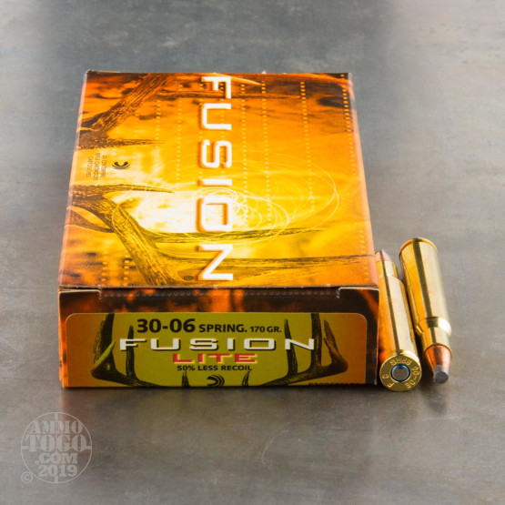 20rds - 30-06 Federal Fusion Lite 170gr. SP Ammo