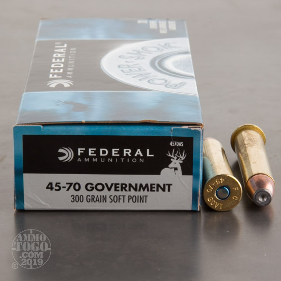 20rds - 45-70 Govt. Federal Power-Shok 300gr. Soft Point Ammo