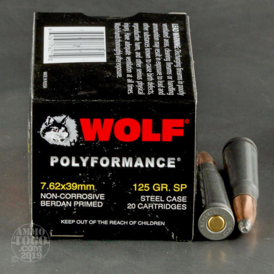 1000rds - 7.62x39 WPA Polyformance 125gr. Soft Point Ammo