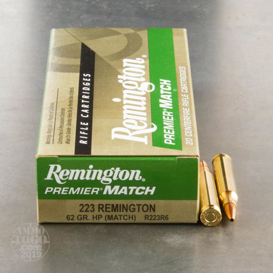 20rds - 223 Remington 62gr. Premier Match Hollow Point Ammo