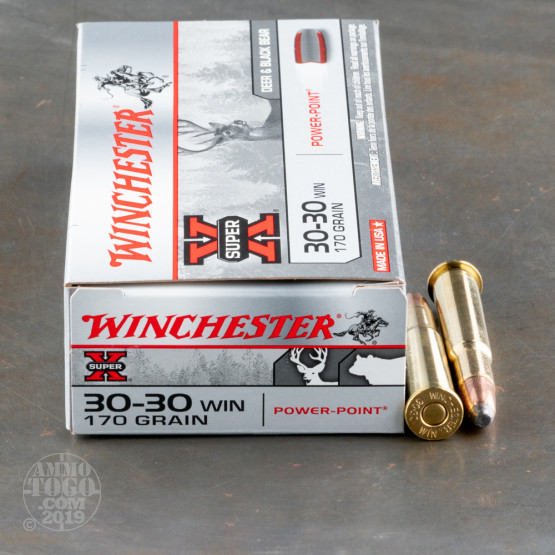 20rds - 30-30 Winchester Super-X 170gr. Power Point Soft Point Ammo