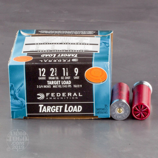 "12rds – 12 Gauge Federal Top Gun 2-3/4"" 1-1/8oz. #9 Shot Ammo"
