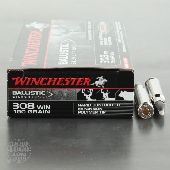 20rds - 308 Winchester Supreme Ballistic Silvertip 150gr. STHP Ammo