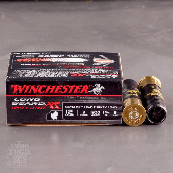 "10rds – 12 Gauge Winchester Long Beard XR 3"" 1-3/4oz. #5 Shot-Lok Lead Ammo"