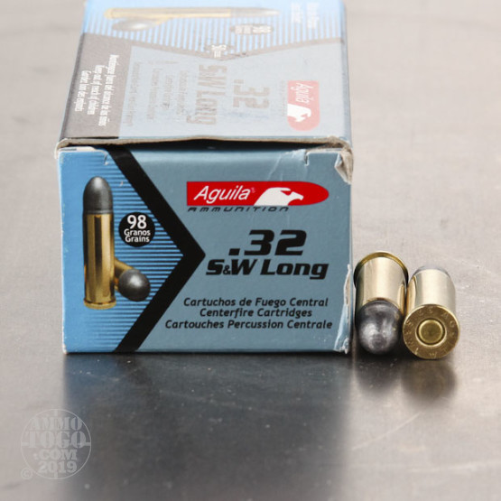 50rds - 32 S&W Long Aguila 98gr. Lead Round Nose Ammo