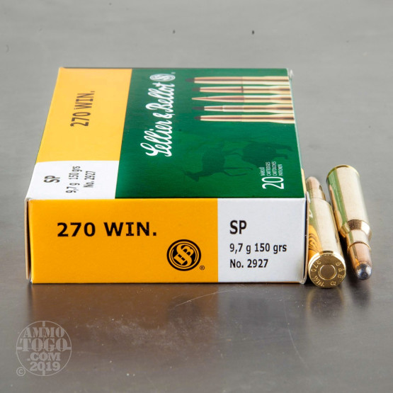 20rds – 270 Win Sellier & Bellot 150gr. SP Ammo