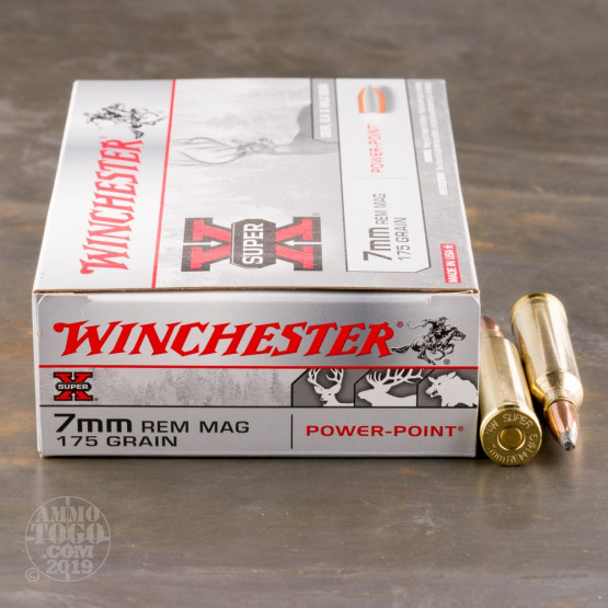 20rds - 7mm Rem  Mag  Winchester Super-X 175gr  Power Point Ammo