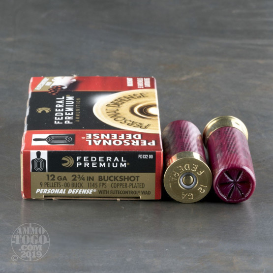 250rds - 12 Ga. Federal Personal Defense Low Recoil 9 pell. 00 Buckshot Ammo