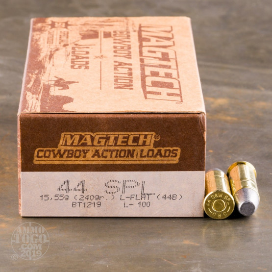 50rds - 44 Special MAGTECH Cowboy 240gr. Lead Flat Nose Ammo