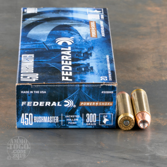 20rds – 450 Bushmaster Federal Power-Shok 300gr. JHP Ammo