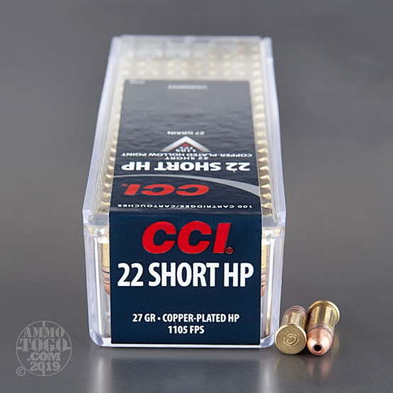 5000rds - 22 Short CCI High-Velocity 27gr. CPHP Ammo