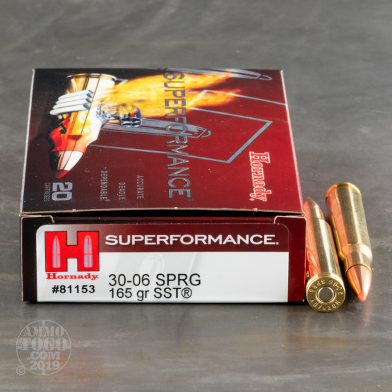 20rds – 30-06 Hornady Superformance 165gr. SST Ammo