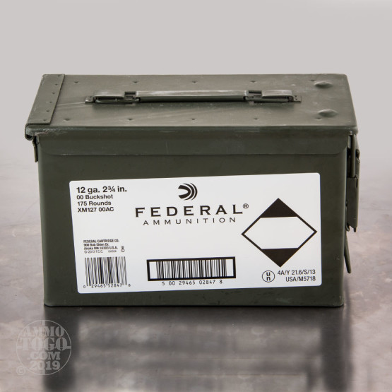 "175rds - 12 Ga. Federal Tactical 2 3/4"" 9 Pellet Lead 00 Buckshot Ammo"