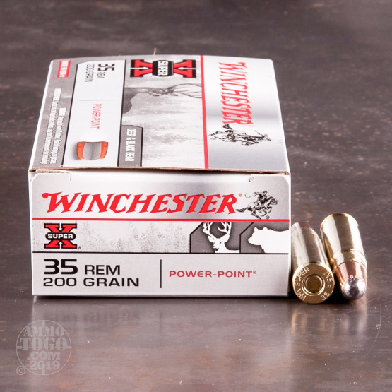 20rds - 35 Rem. Winchester 200gr. Super-X Power Point Ammo
