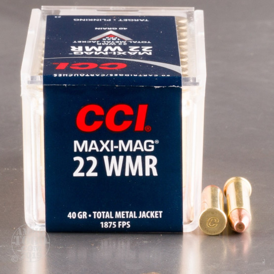 50rds - .22 Mag CCI Maxi-Mag 40gr. Solid Point Ammo