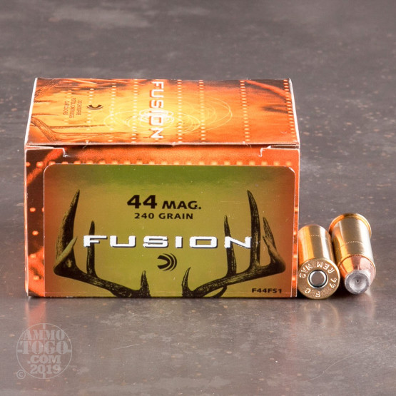 20rds - 44 Mag Federal Fusion 240gr. HP Ammo