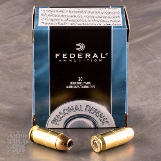 20rds - 45 ACP Federal Personal Defense 230gr. Hollow Point Ammo